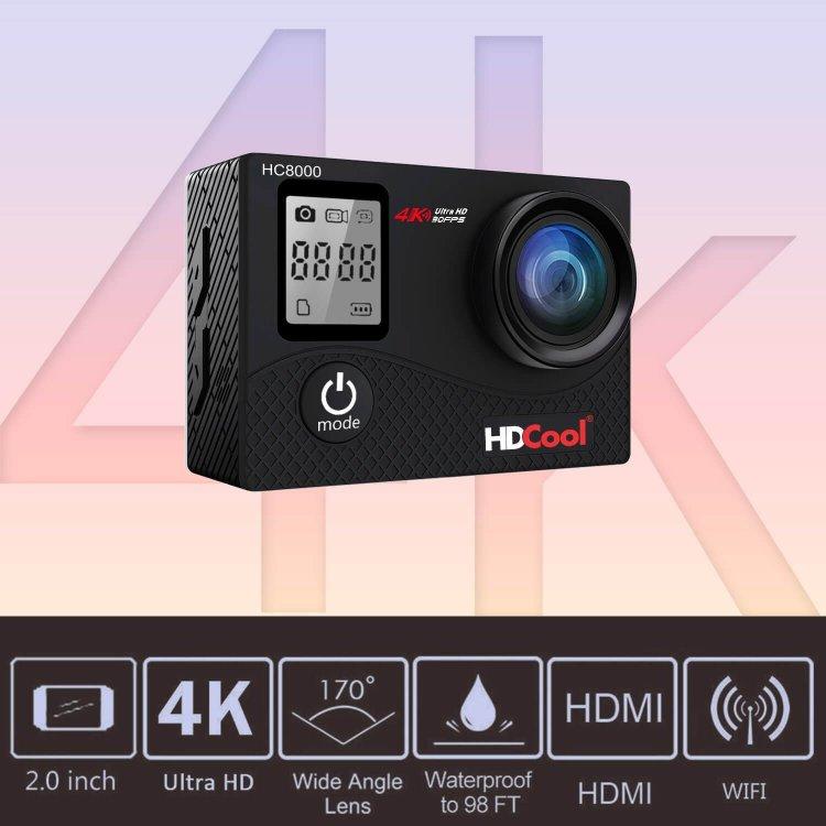 hdcool hc8000 4 K Action Camera 16 MP FHD 1080 con WIFI impermeabile Recensione