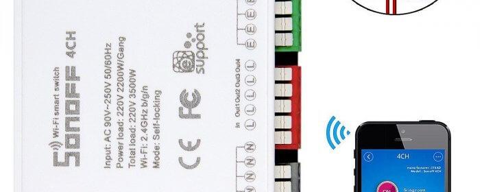 Sonoff ITEAD 4CH - 4 canali Din Rail Montaggio WiFI Smart Switch Offerte, Opinioni, Recensione
