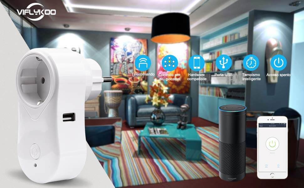 VIFLYKOO Presa Wifi Intelligente 2-Pack: Offerte, Opinioni, Recensione