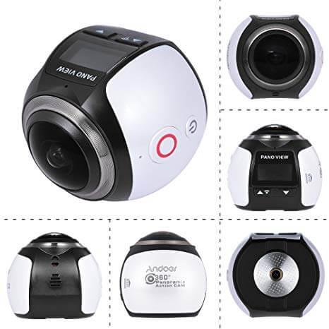Action cam a 360° V1 4 K, mini telecamera e fotocamera con WiFi: Offerte, Opinioni, Recensione