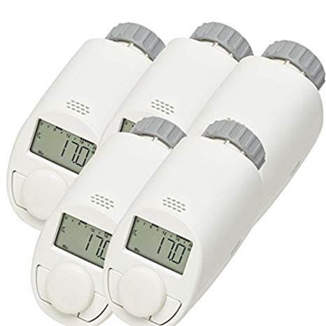 Set da 5 valvole termostatiche elettriche per radiatore, modello N, con funzione Boost: Offerte, Opinioni, Recensione